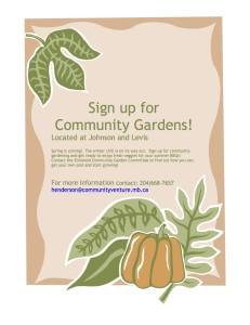 Community Gardens poster 2014