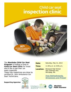Elmwood High School Car Seat Clinic Poster - May 15th-1