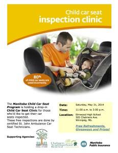 Elmwood High School Car Seat Clinic Poster - May 15th-1