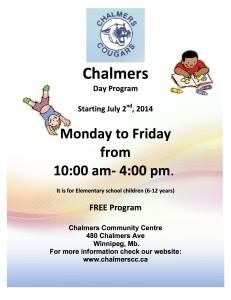 Chalmers Summer Day Camp Program